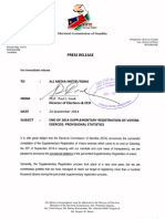 Provisional Supplementary Registration of Voters Results 08-20 Sept 14