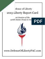 2013 Liberty Report Card