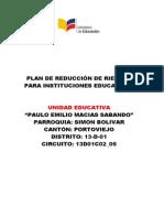 Plan Institucional Reduccion Riesgos Uepems