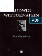 Wittgenstein, Ludwig - On Certainty (Blackwell, 1969)