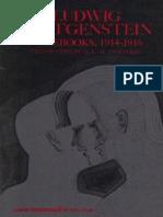 Wittgenstein, Ludwig - Notebooks, 1914-1916 (Harper, 1969)