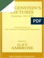 Wittgenstein, Ludwig - Lectures, 1932-1935 (Prometheus, 2001)
