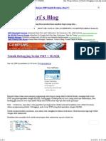 Teknik Debugging Script Php Mysql