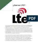 Qué es LTE