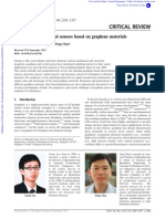 Biological and Chemical Sensors Based on Graphene Materials Review