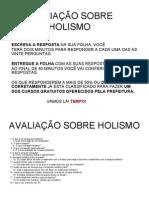 AVALIAÇÃO SOBRE HOLISMO