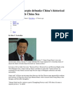 PH Justice Carpio Debunks China