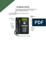 El Teléfono AVAYA