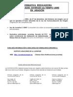 Legislacion Actividades Juveniles en Aragón