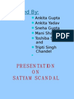 Presentation on Satyam Scam