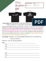 Life Church T-shirt Order Form