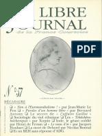 Libre Journal de la France Courtoise N°057
