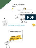 Building Communities (aimed at package teams)