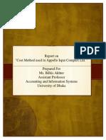 Cost Method Used in Appollo Ispat Complex Ltd