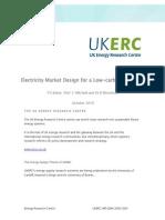 Electricity Market Design