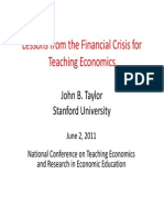Lessons From the Financial Crisis for Teaching Economics