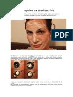 Maska Od Aspirina Za Savršeno Lice