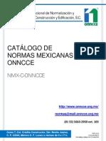 Catalogo de Normas Onnccev2014