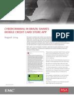 Cybercriminal en Brazil- Reporte de Fraude-0814