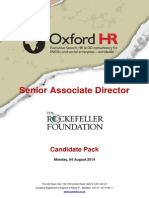 Rockefeller Foundation Senior AD Candidate Pack