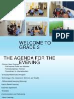 curriculum evening presentation grade 3