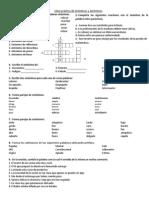 Clase Práctica de Sinónimos y Antónimos