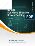 50 Tips for More Effective Safety Training