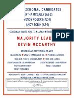 Arizona Congressional Victory Fund 092414 Invite