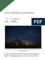 Como Fotografar Céus Estrelados - Tecmundo