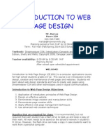 introduction to web page design syllabus 14-15