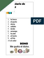 Vocabulario de Español Segundo Grado
