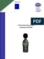 Manual Sonometro Pce 999