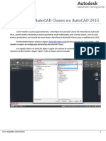 Utilizacao Da Interface Do AutoCAD Classic No AutoCAD 2015