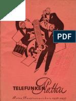 1936-1937 - Telefunken Platten Rotes Hauptverzeichnis 1936-1937