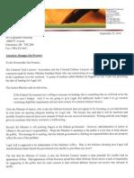 CTLA Letter Calling for Denis Resignation