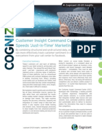 Customer Insight Command Center Speeds 'Just-in-Time' Marketing