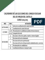 Calendario de Las Elecciones Del Consejo Escolar Del Ies Virgen Del Castillo_pub