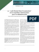 El MMSE en Argentina - Instrucciones Para Su Administracion