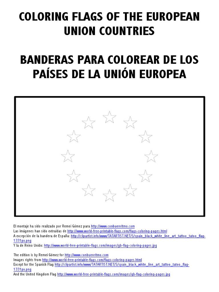 Fantástico Colorear Bandera Española Molde - Enmarcado Para Colorear ...