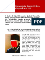 The Baatinee Movements, Secret Organizations, Freemasonry, Al-Ikhwaan, Al-Qaidah and ISIS