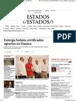 20-09-14 Entrega Sedatu Certificados Agrarios en Oaxaca - Grupo Milenio