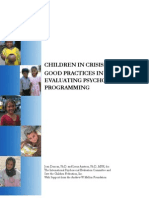 Evaluating Psychosocial Programming