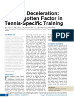 Efficient Deceleration - The Forgotten Factor in Tennis-Specific Training