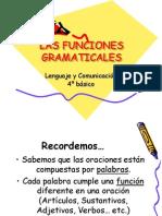 Las Funciones Gramaticales