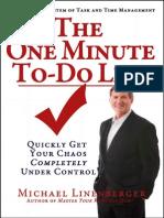 TheOneMinuteTo DoList eBook