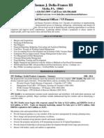 VP Finance Director CFO in Philadelphia PA Resume Thomas Della-Franco