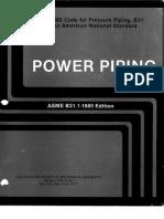 Asme b31.1-1989 Upto and Incl 1991 Addenda