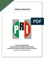 Agenda Legislativa PRI Período de Sesiones de Septiembre a Diciembre de 2014
