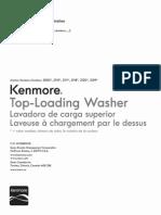 Manual Lavadora Kenmore Actuador Shifter