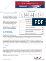 APQC Process Classification Framework v6